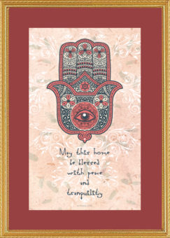 HB-12 Hamsa Home Blessing by Mickie Caspi