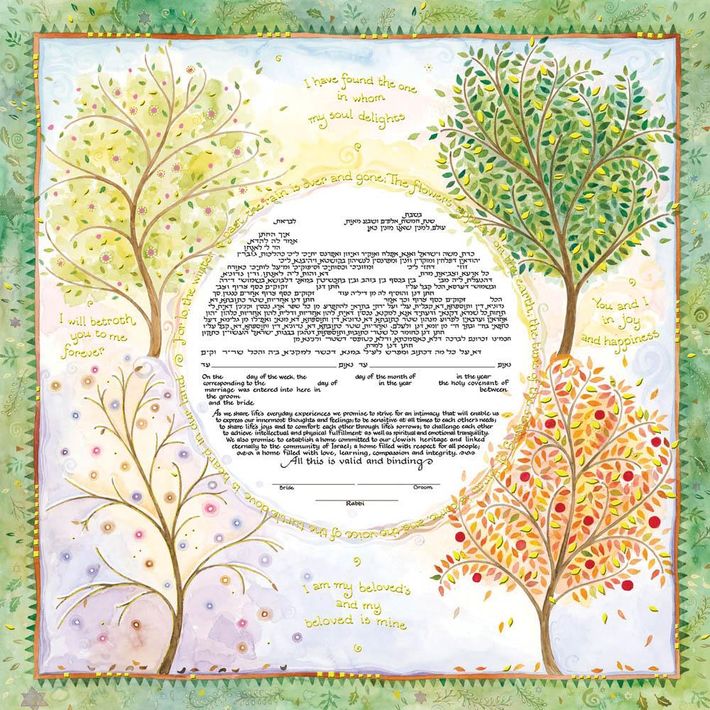13-1 Seasons of Joy Ketubah