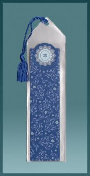 Royal Blue Vines Bookmark by Mickie Caspi