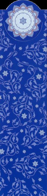 Royal Blue Vines Bookmark by Mickie Caspi