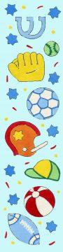 MZ106 Sports Blue Mezuzah by Mickie Caspi