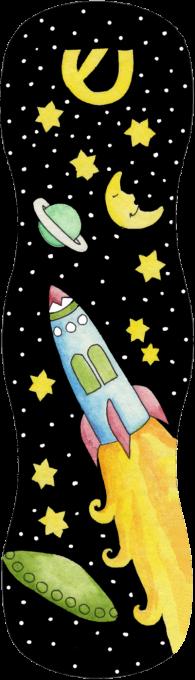 MZ112 Rocket Ship Mezuzah by Mickie Caspi