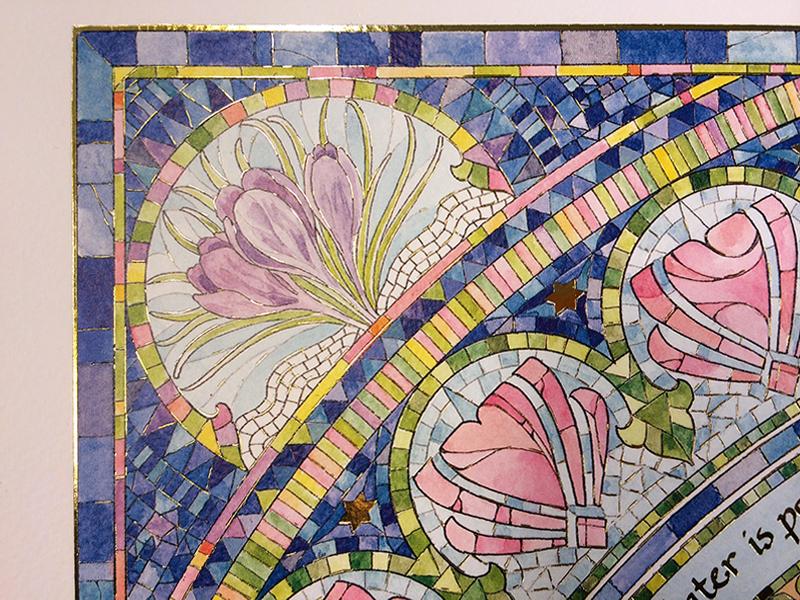 05-1 Seasons Ketubah by Mickie Caspi Spring