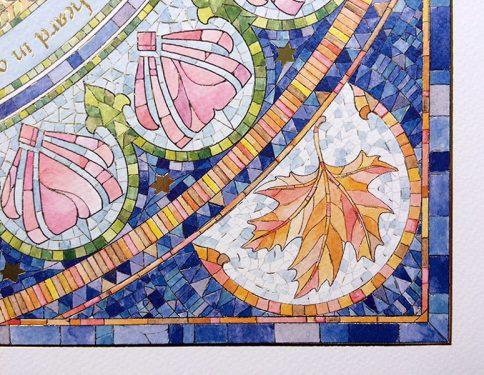 05-1 Seasons Ketubah by Mickie Caspi Autumn