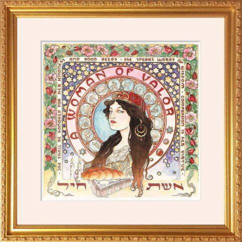 Art Nouveau Woman of Valor