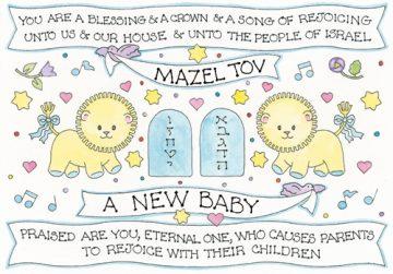 jewish new baby gift tag