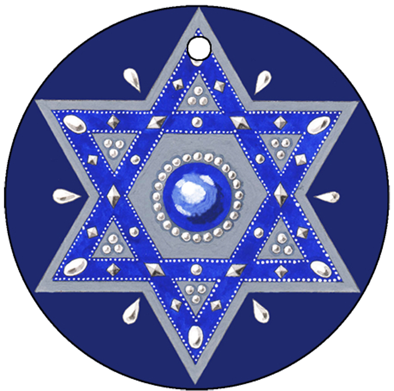Royal Blue Star Keychain - Mickie Caspi
