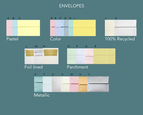 Envelope Options for Invitations by Mickie Caspi