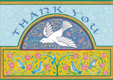 Bluebirds Thank You Cards Package by Mickie Caspi