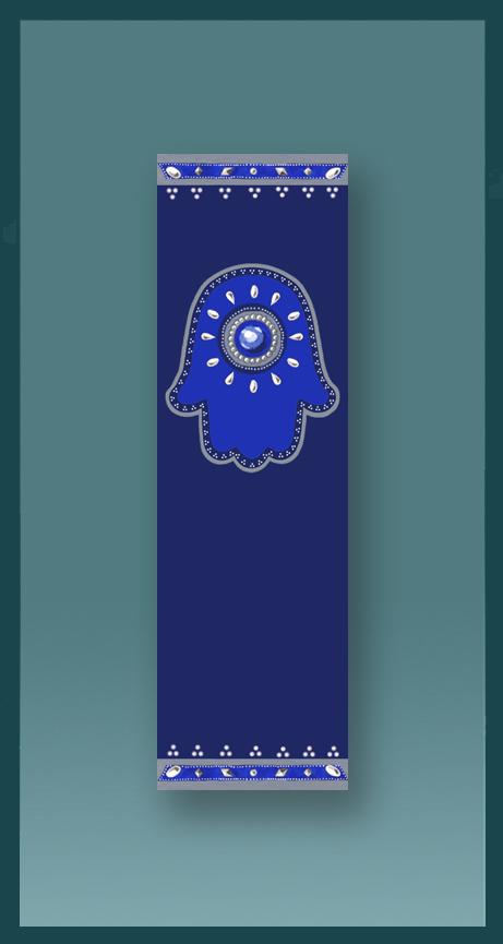 Jewish Car Mezuzah Royal Blue Hamsa