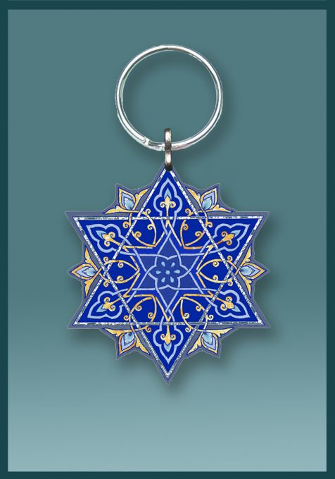Blue Star Key Chain