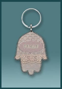 Hamsa Peace Key Chain