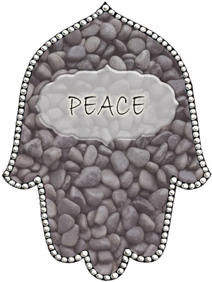 Hamsa Stones Key Chain