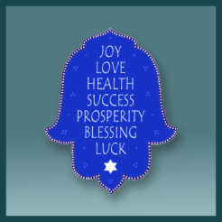Blue Hamsa Seven Blessings