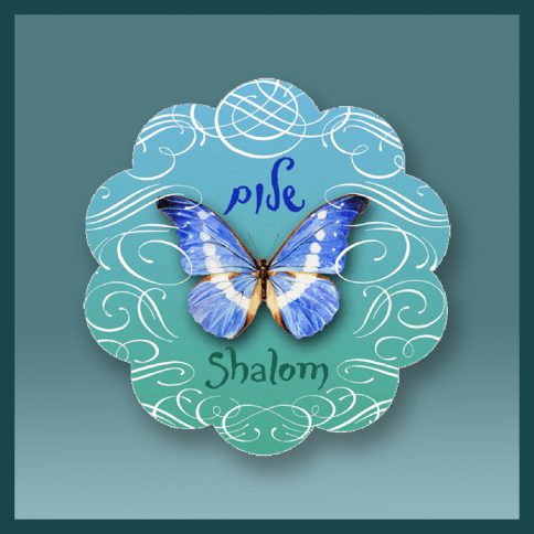 Shalom Butterfly שלום