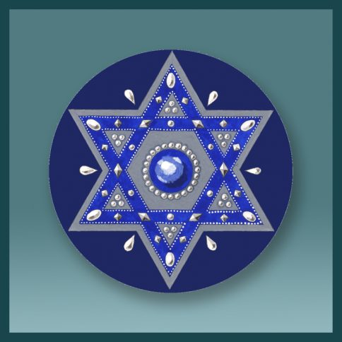 Magen David Royal Blue