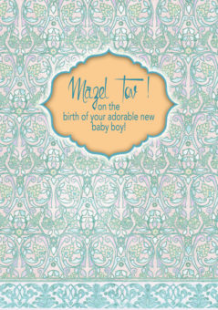 Baby Boy Greeting Card by Mickie Caspi