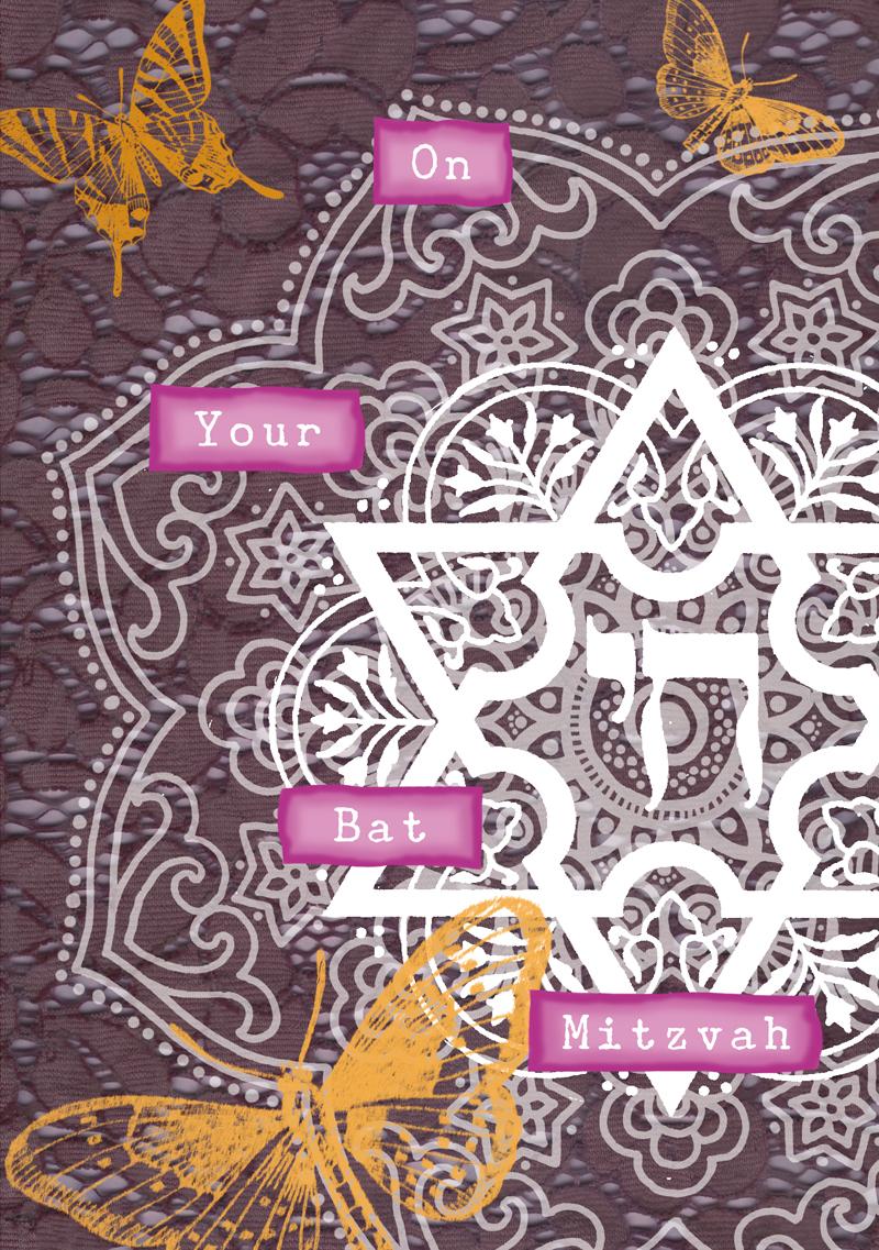 Bat Mitzvah Greeting Card by Mickie Caspi