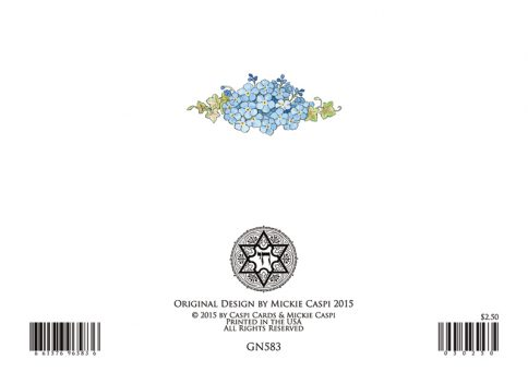 Girl Naming Jewish Greeting Card by Mickie Caspi