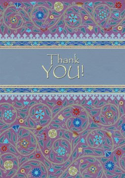 Thank You Jewish Greeting Card by Mickie Caspi