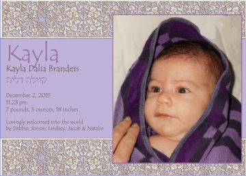 New Baby Girl Blanket Announcement by Mickie