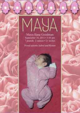 New Baby Girl Roses Announcement by Mickie