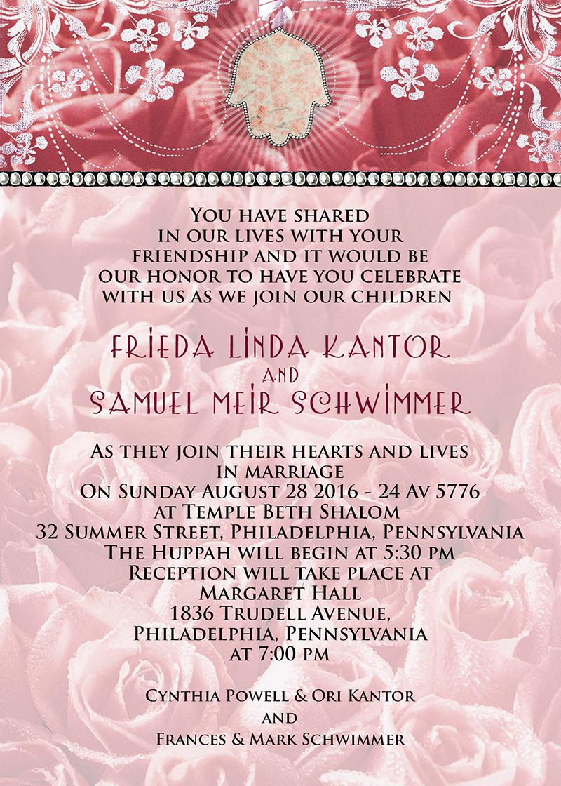 Roses & Hamsa Invitation by Mickie