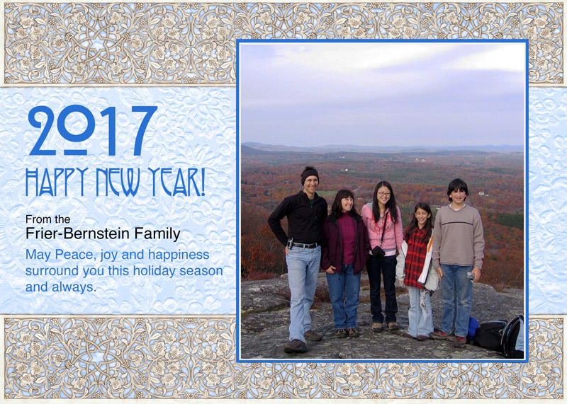 Mountain Top Holiday Greetings by Mickie Caspi