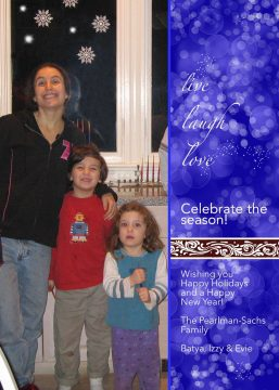 Live Laugh Love Holiday Greetings by Mickie Caspi