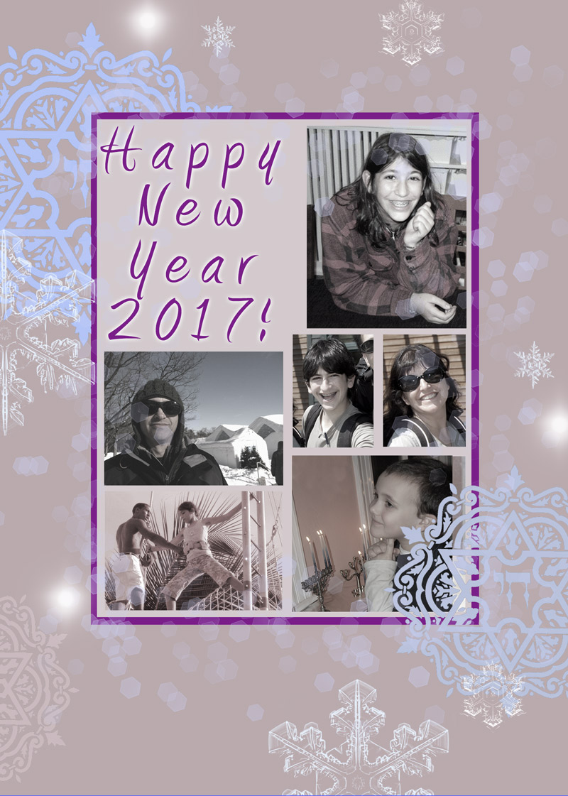 Happy New Year Holiday Greetings by Mickie Caspi