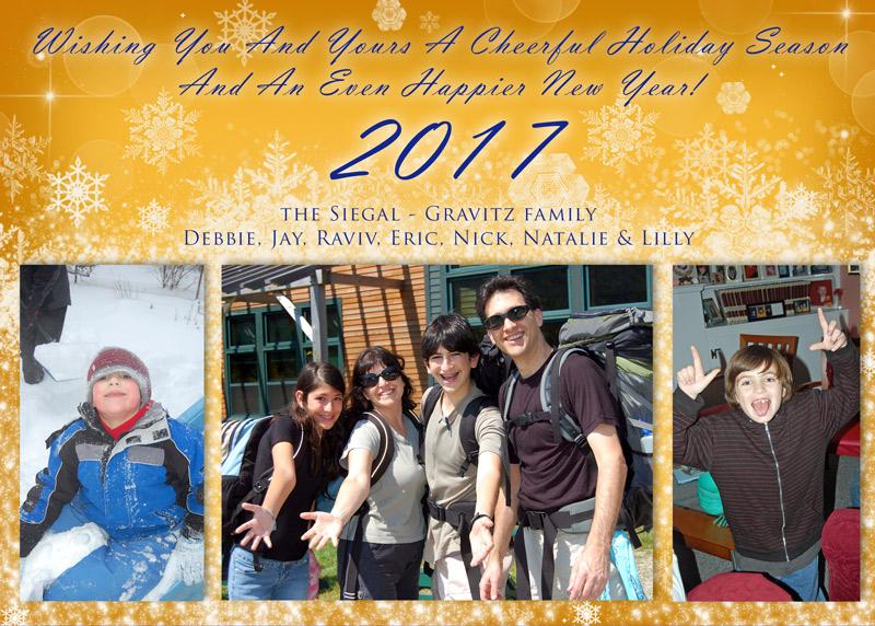 Cheerful Holiday Season Greetings by Mickie Caspi