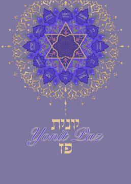 Purple Star Bat Mitzvah Invitation by Mickie Caspi