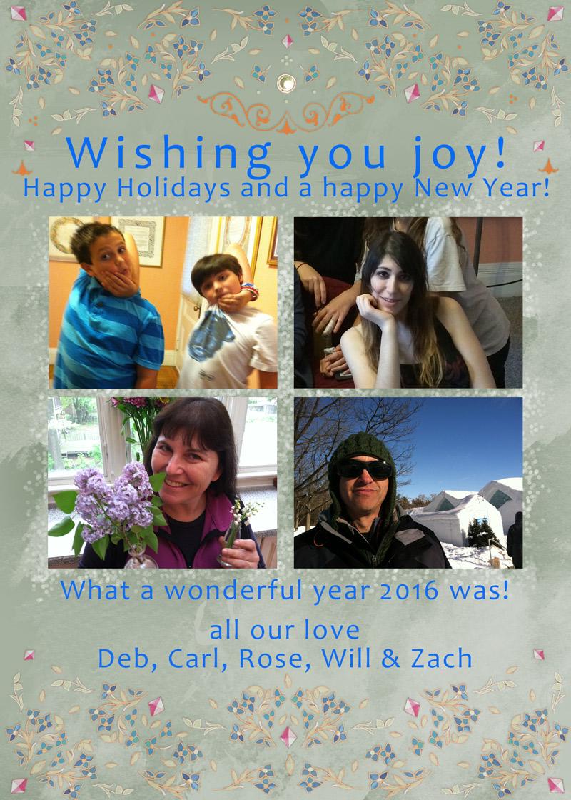 Happy Holidays Photo Card by Mickie Caspi