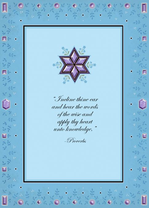 Amethyst Bat Mitzvah Invitation by Mickie Caspi