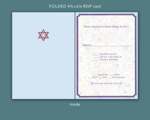 Psychedelic Bat Mitzvah Invitation by Mickie Caspi