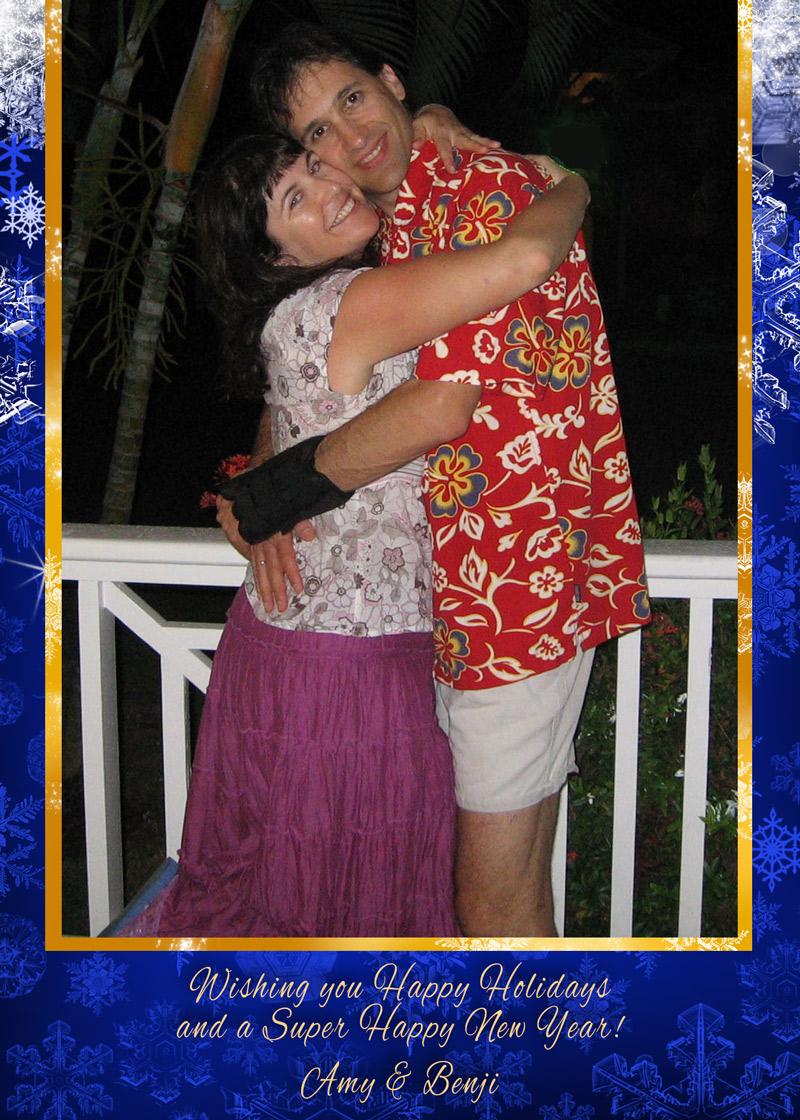 Hawaiian Shirts Holiday Greetings by Mickie Caspi