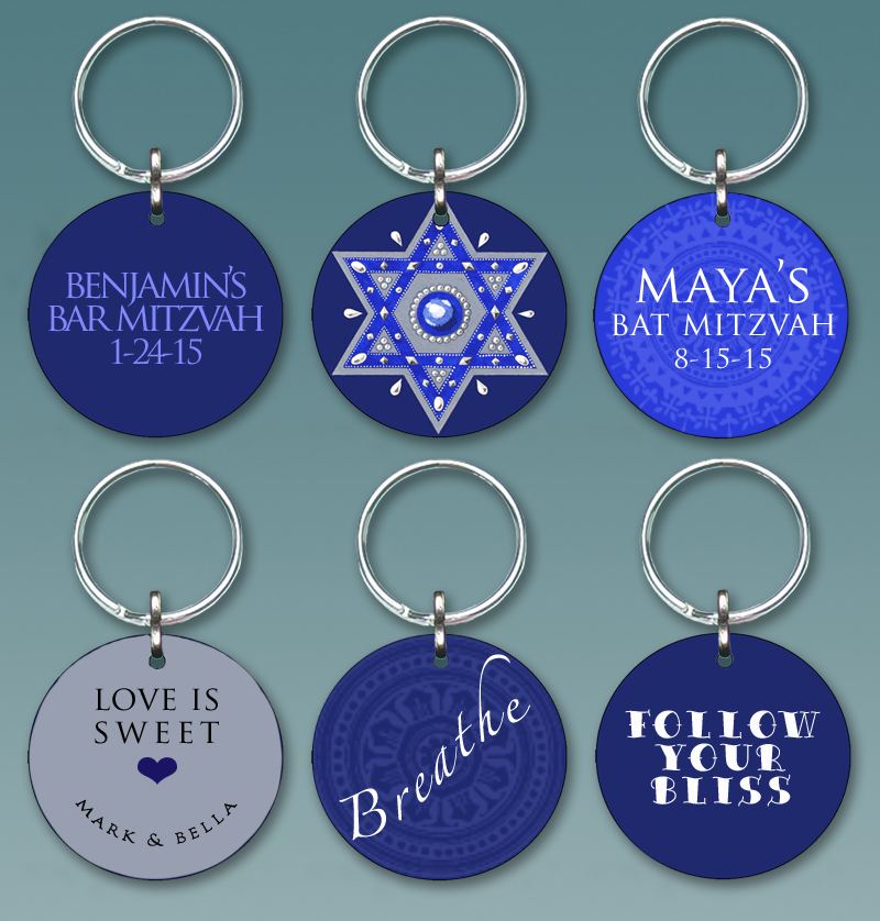 Custom Keychain Party Favors by Mickie Caspi