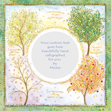 Seasons of Joy Original Ketubah by Mickie Caspi