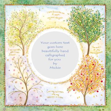 Seasons of Joy Original Ketubah by Mickie Caspi