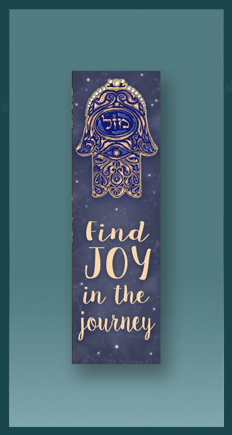 Joy Hamsa Car Mezuzah by Mickie Caspi