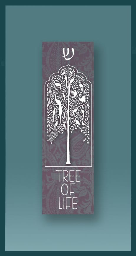 Grey Tree Car Mezuzah