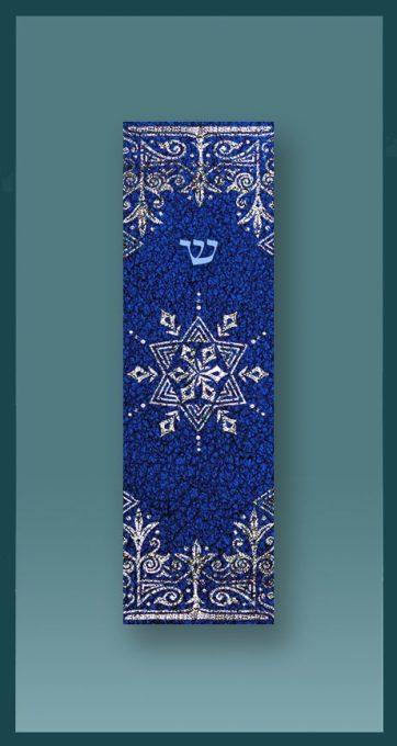 Blue Star Car Mezuzah