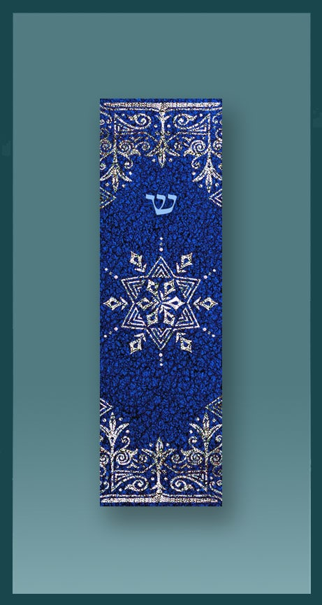 Blue Star Car Mezuzah