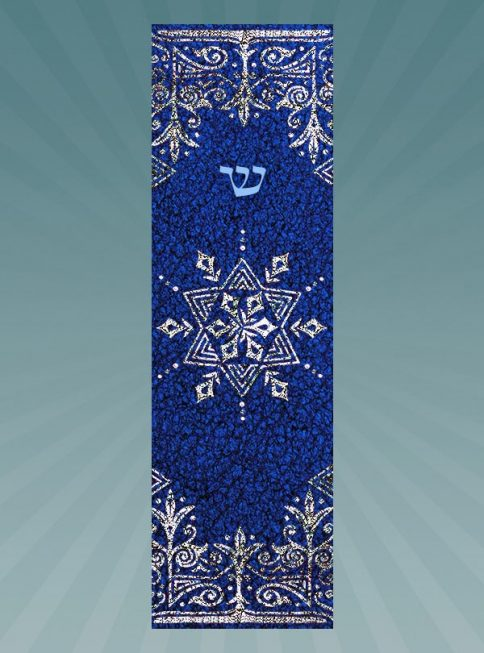 CM181 Blue Star Car Mezuzah