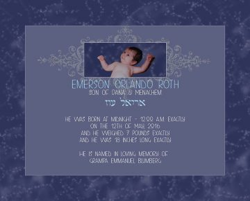 Baby Boy Universe Midnight Baby Wall Art G-BB-10a by Mickie Caspi