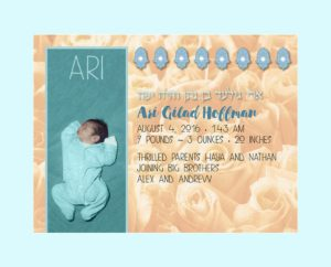 Baby Boy Bed of Roses Yellow Baby Wall Art G-BB-14c by Mickie Caspi