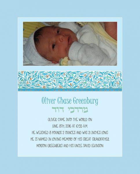 Baby Boy Cutie Pie Blue Baby Wall Art G-BB-15b by Mickie Caspi
