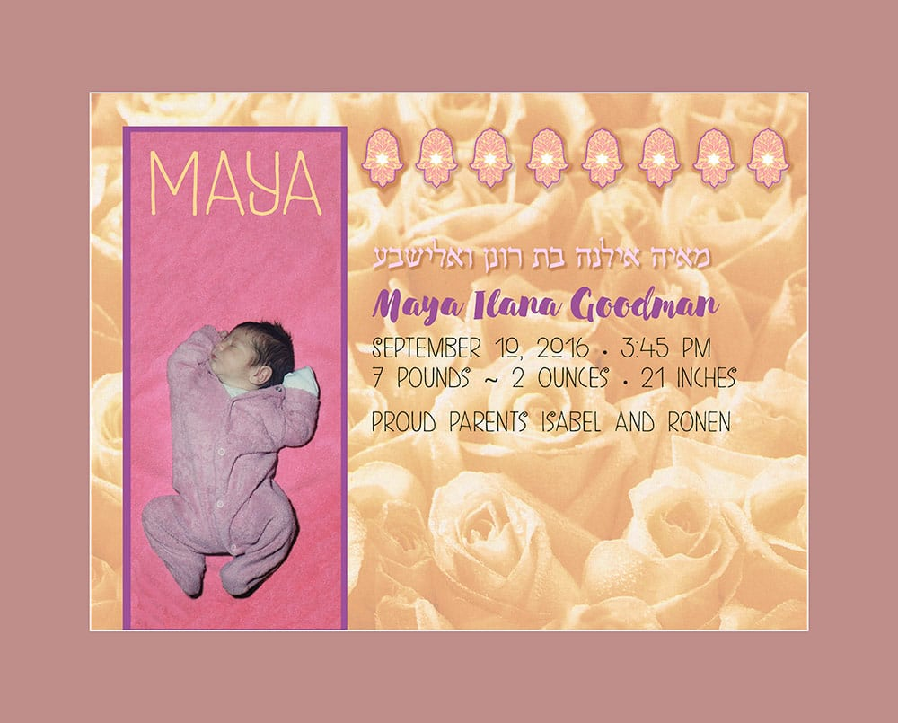 Custom Giclee Print - Baby Girl Bed of Roses Wall Art by Mickie Caspi