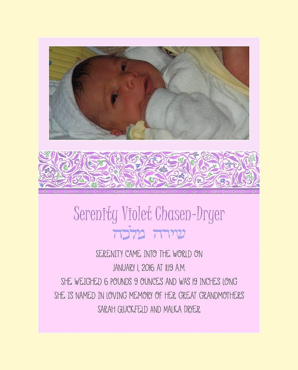Baby Girl Cutie Pie Pink Baby Wall Art G-BG-15b by Mickie Caspi