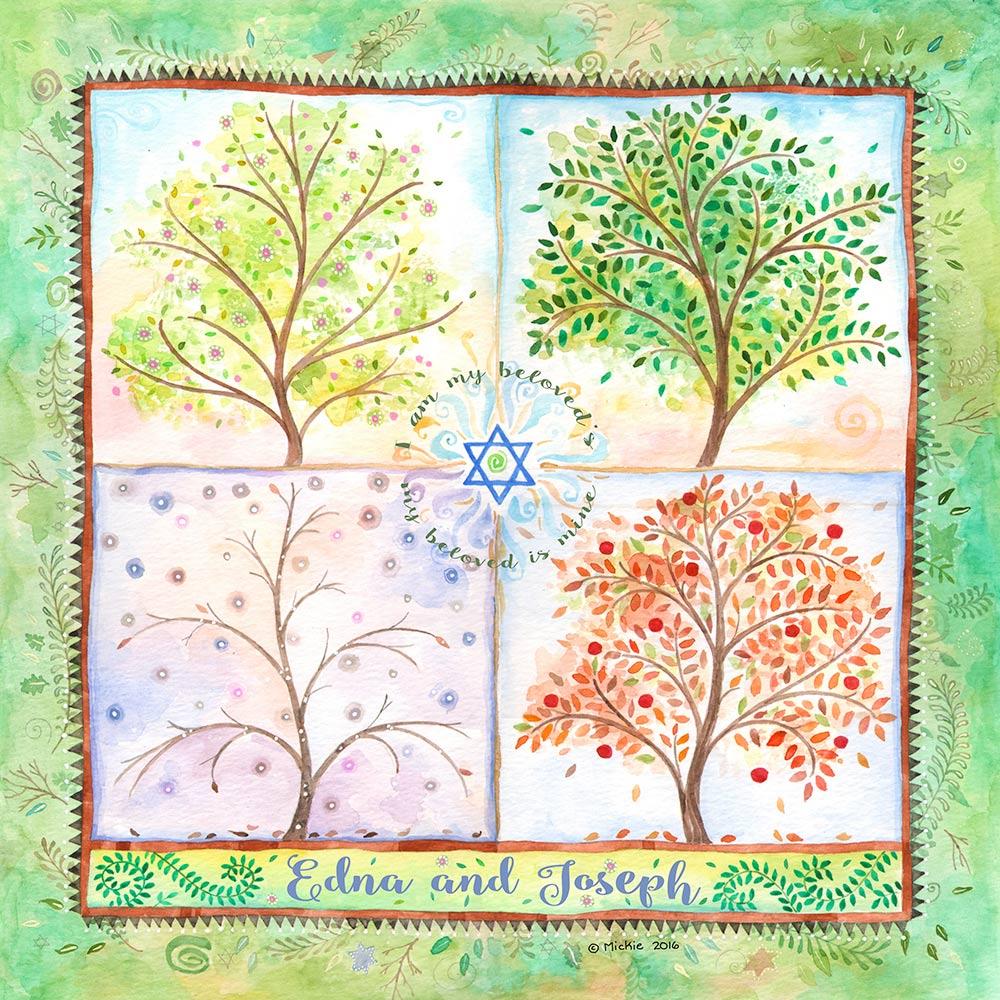 Lovers Gift LG-5a Seasons of Joy Leaf by Mickie Caspi